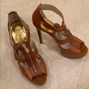 Michael Kors leather platforms sandals
